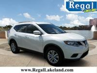 White 2015 Nissan Rogue S FWD CVT with Xtronic 2.5L I4