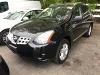Certified. Black 2015 Nissan Rogue Select S AWD