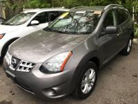 Certified. Gray 2015 Nissan Rogue Select S AWD