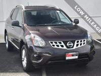Clean CARFAX. Black Amethyst 2015 Nissan Rogue Select S