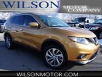 CARFAX One-Owner. Gold 2015 Nissan Rogue SL AWD CVT