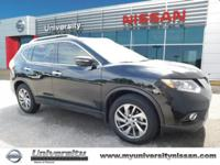 CARFAX One-Owner. Super Black 2015 Nissan Rogue SL FWD
