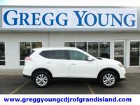 Glacier White 2015 Nissan Rogue SV AWD CVT with Xtronic