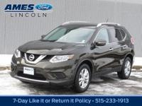 Presented in Midnight Jade, our 2015 Nissan Rogue SV