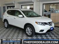 CARFAX One-Owner. Glacier White 2015 Nissan Rogue SV