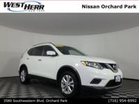 New Price! 2015 Nissan Rogue SV Pearl White CARFAX