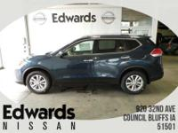 The Nissan Rogue includes a striking front end,