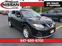Recent Arrival! 2015 Nissan Rogue SV AWD in Black.