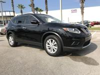 CARFAX One-Owner. Super Black 2015 Nissan Rogue SV FWD