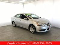 CARFAX One-Owner. Brilliant Silver 2015 Nissan Sentra