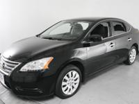 CARFAX One-Owner. Super Black 2015 Nissan Sentra S FWD