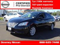 NISSAN CERTIFIED PRE-OWNED !!! Fuel Efficient! Pad your