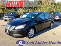 Options:  2015 Nissan Sentra S|Advertised Price Expires