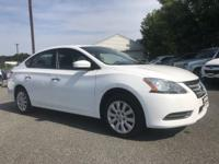 2015 Nissan Sentra SV White CVT with Xtronic, ABS