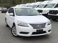 2015 Nissan Sentra SV White  Clean CARFAX. FOR MORE