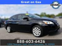 Super Black 2015 Nissan Sentra S FWD CVT with Xtronic