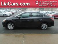 2015 Nissan Sentra in Super Black. CVT with Xtronic.