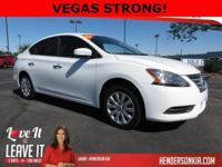 Options:  2015 Nissan Sentra|White|Sentra S|4D