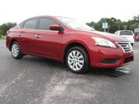 Red 2015 Nissan Sentra S FWD 6-Speed Manual 1.8L