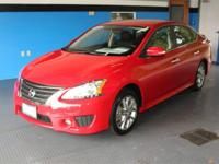 Red 2015 Nissan Sentra SR FWD CVT with Xtronic 1.8L