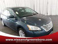 39 MPG! This Nissan Sentra SV has a great looking