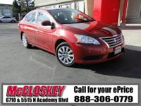 ONE OWNER!! This 2015 Nissan Sentra comes with Backup