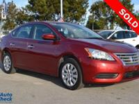 You're looking at a 2015 Nissan Sentra SV in Flame