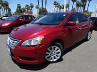 Options:  2015 Nissan Sentra Sv|Red|Get Ready To Enjoy!