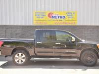 Clean CARFAX. Black 2015 Nissan Titan PRO 4X Leather