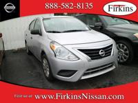 *NISSAN CERTIFIED*. Versa 1.6 S, 1.6L I4 DOHC 16V, and