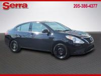 Certified. Super Black 2015 Nissan Versa 1.6 S Plus FWD