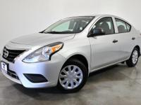 CARFAX One-Owner. Brilliant Silver 2015 Nissan Versa