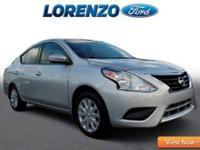 Options:  2015 Nissan Versa|Silver/|V4 1.6 L