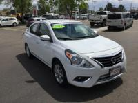 CARFAX One-Owner. Certified. White 2015 Nissan Versa