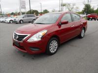 You can't go wrong with this RED 2015 Nissan Versa.  It