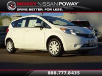 Versa Note S Plus, Nissan Certified, 4D Hatchback, and