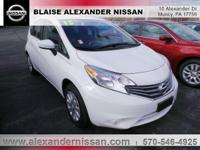 2015 Nissan Versa Note S Williamsport area. LOCAL