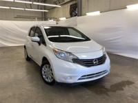 White 2015 Nissan Versa Note SR FWD CVT with Xtronic