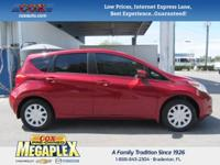This 2015 Nissan Versa Note SV in Red Brick Metallic is