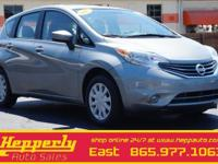 This 2015 Nissan Versa Note SV in Magnetic Gray