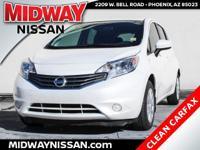 2015 Nissan Versa Note S Plus Aspen White Pearl 1.6L