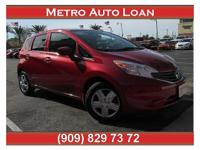 This is a beautiful RED 2015 NISSAN VERSA NOTE 4 DOOR