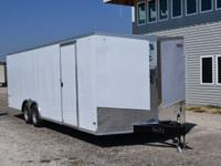 2015 Pace American Enclosed Trailer 8.5'x16' Tandem