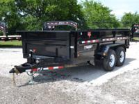 "2015 PJ Powdercoated Dump Trailer 83"" x 14' -2-7,000 lb"