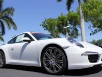 This 2015 Porsche 911 Carrera is Carrara White w/