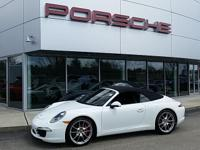 RARE MANUAL TRANSMISSION 911 S CABRIOLET! WHITE OVER