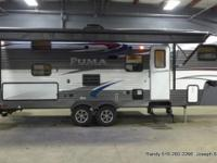 The 2015 Puma 259RBSS single slide fifth wheel has a