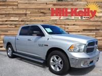 One-Owner. Clean CARFAX. Silver 2015 Ram 1500 SLT Lone