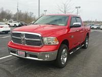 Clean CARFAX. Bright Red 2015 Ram 1500 SLT 4WD 8-Speed