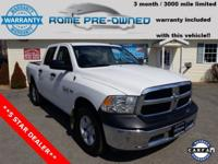 White 2015 Ram 1500 4WD 8-Speed Automatic HEMI 5.7L V8